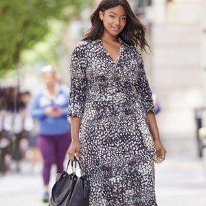 NWOT Jessica London Wrap Style Maxi Dress